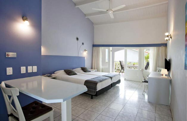 De accommodation is spacious, with porch comfortable bathroom and kitchen